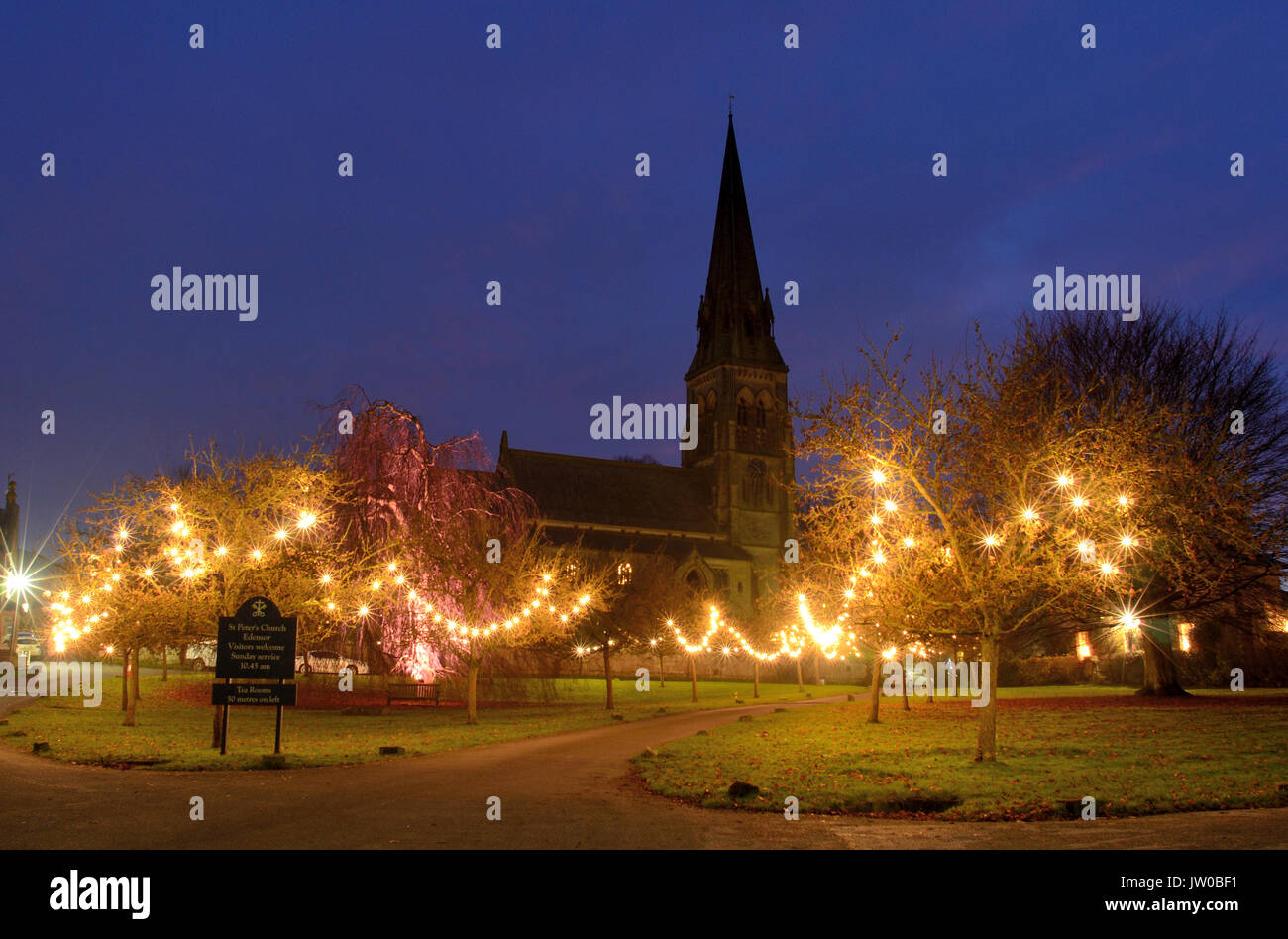 Christmas Lights On Stone Wall : Peak District Winter Stock Photos & Peak District Winter Stock Images - Alamy