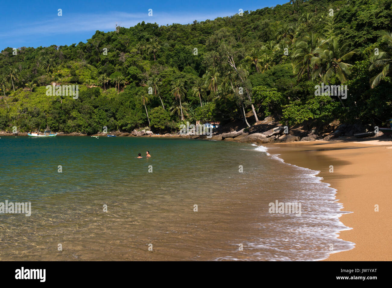 Fome Beach in Ilhabela, Brazil Stock Photo