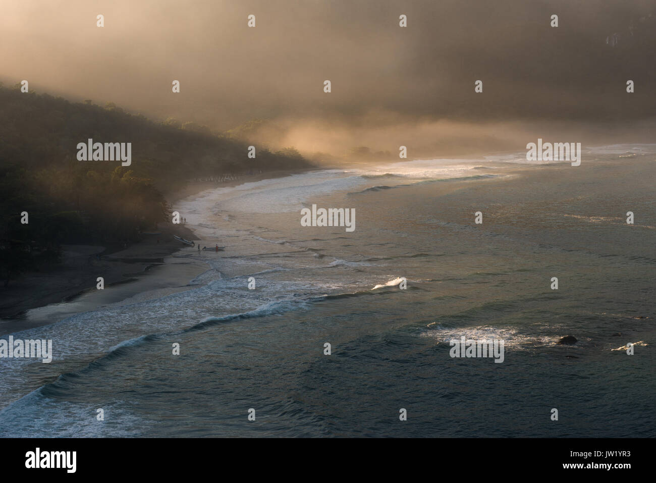 Castelhanos Beach in Ilhabela, Brazil - Stock Image