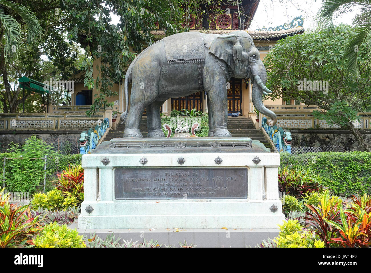 Stock Photo - Elephant statue   Saigon Zoo and Botanical Gardens   Ho Chi Minh City, Vietnam   DSC01172