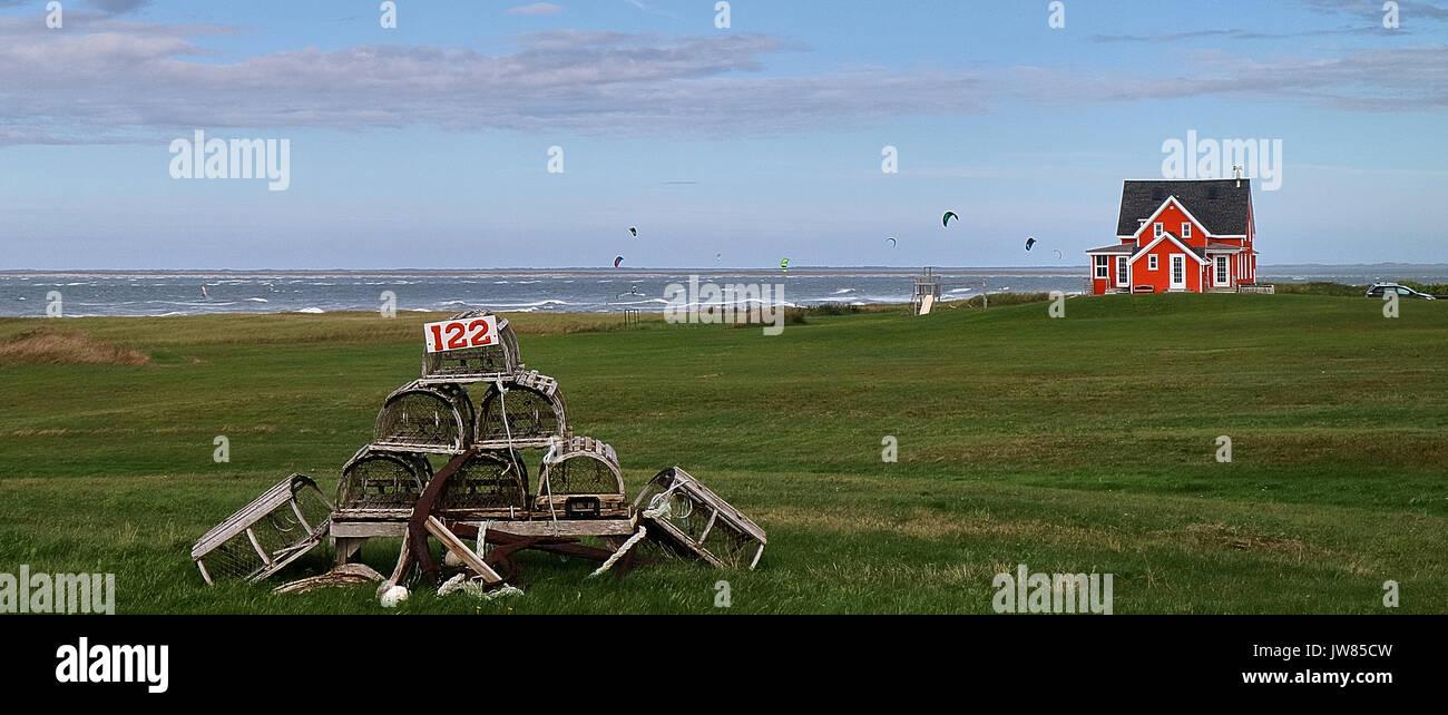 America, Canada, Québec,, Québec Maritime, Madeleine Islands, La Grande Entrée Island, Cape à - Stock Image