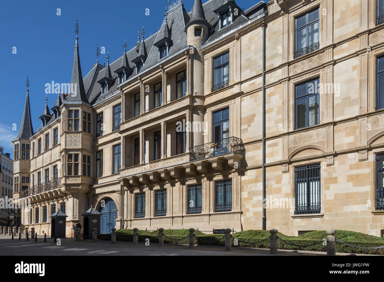 The Grand Ducal Palace in Luxembourg City in the Grand Duchy of Luxembourg. It is the official residence of the - Stock Image