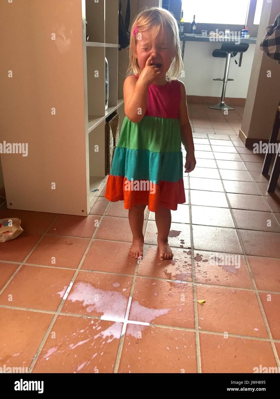 Don't cry over spilt milk - Stock Image