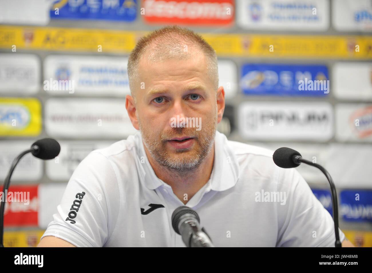 Edward Iordanescu, the head coach of FC Astra Giurgiu - Liga 1 (Romanian Football League One) game between FC Voluntari - Stock Image