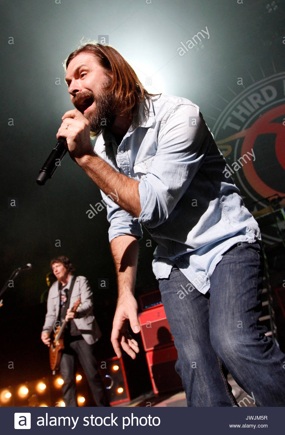 Mark David Lee, Mac Powell. Christian rock band Third Day made a stop on their Miracle Tour at the Fox Theater in - Stock Image