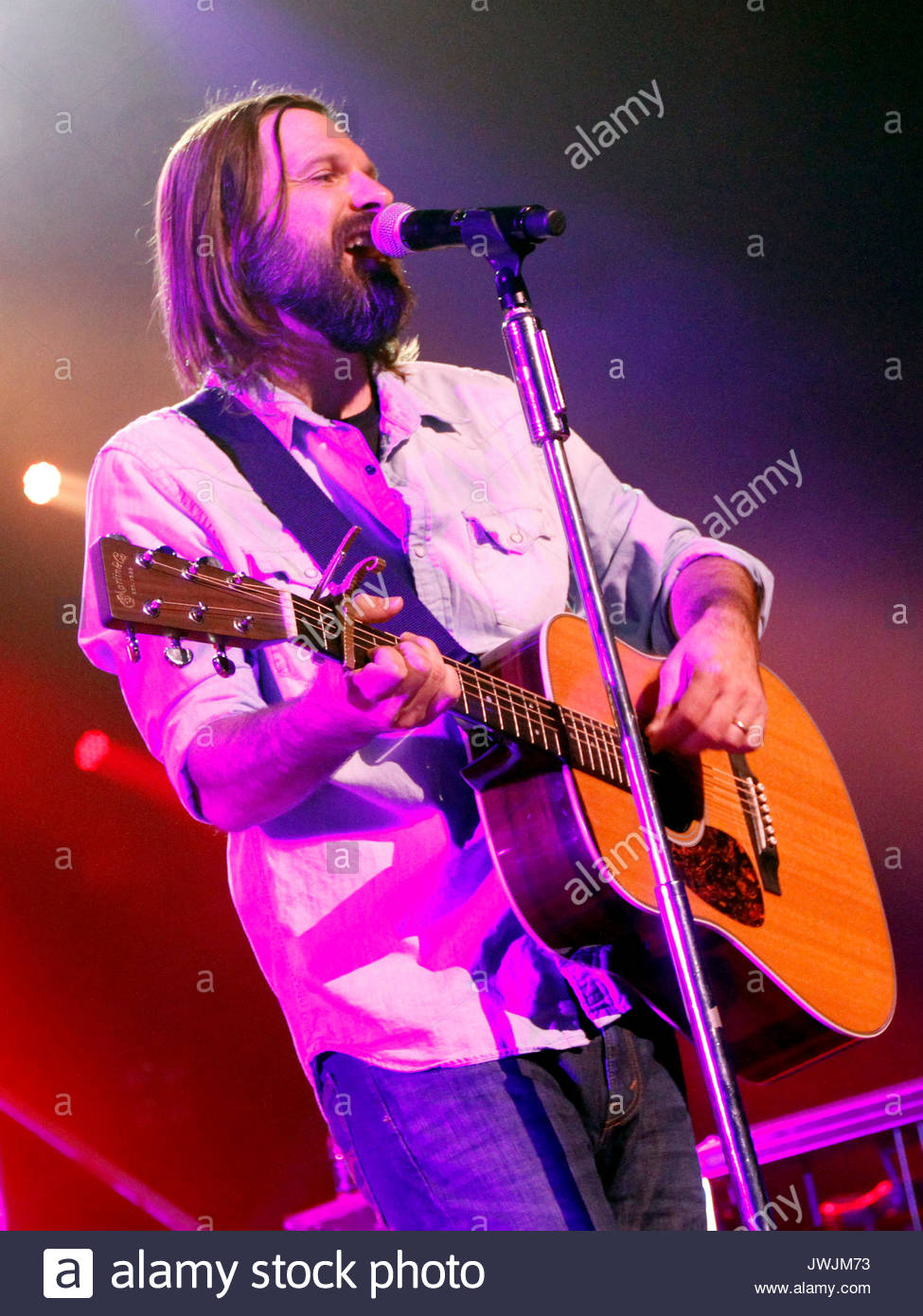Mac Powell. Christian rock band Third Day made a stop on their Miracle Tour at the Fox Theater in downtown Atlanta - Stock Image
