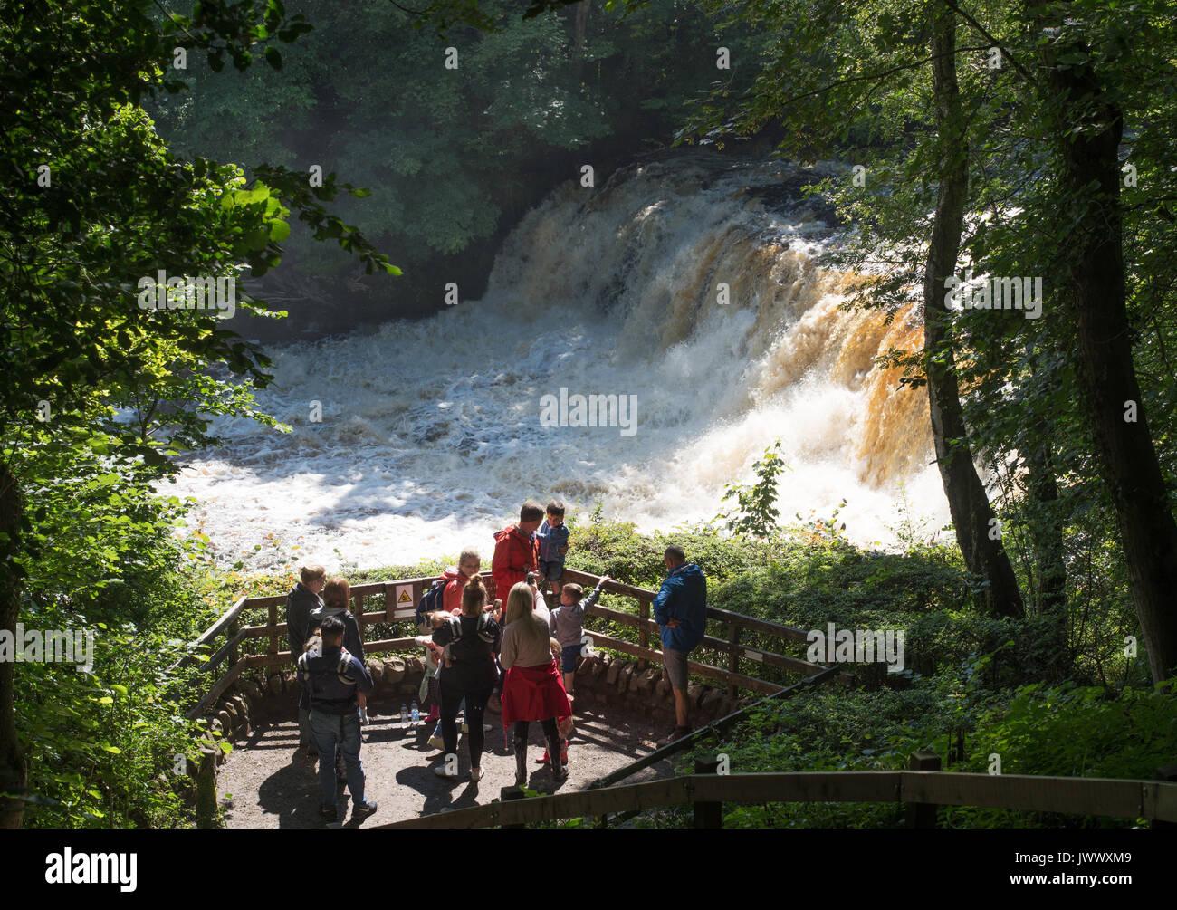 group-of-visitors-aysgarth-falls-wensley