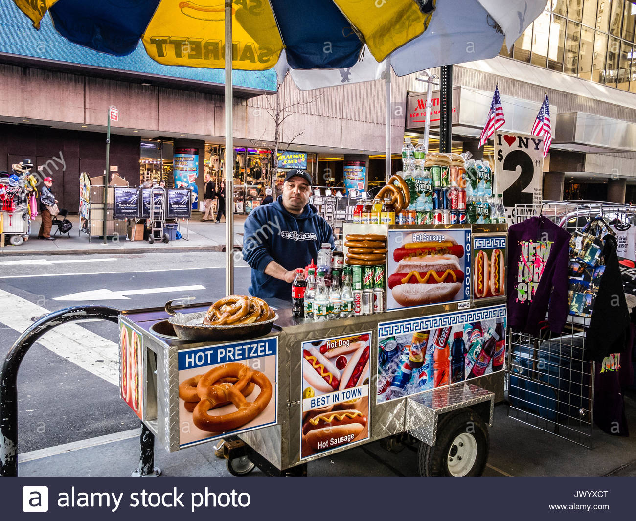 Times Square Hot Dog Stand