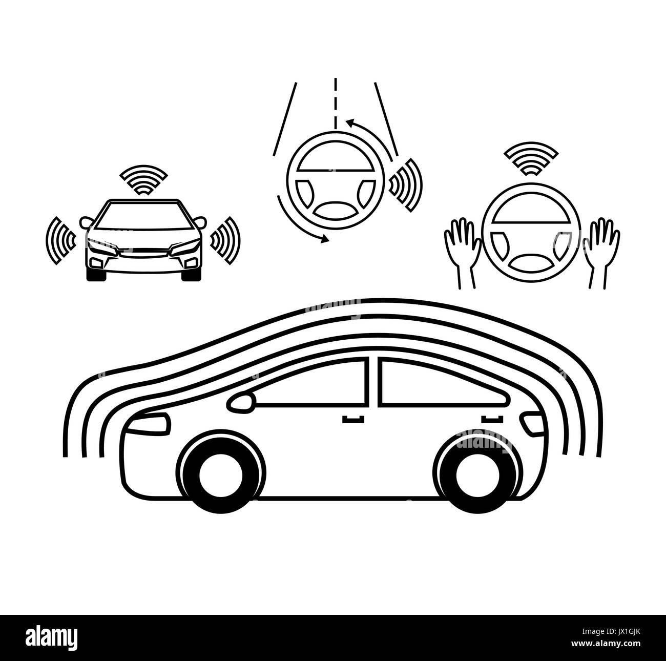 connected car stock vector images