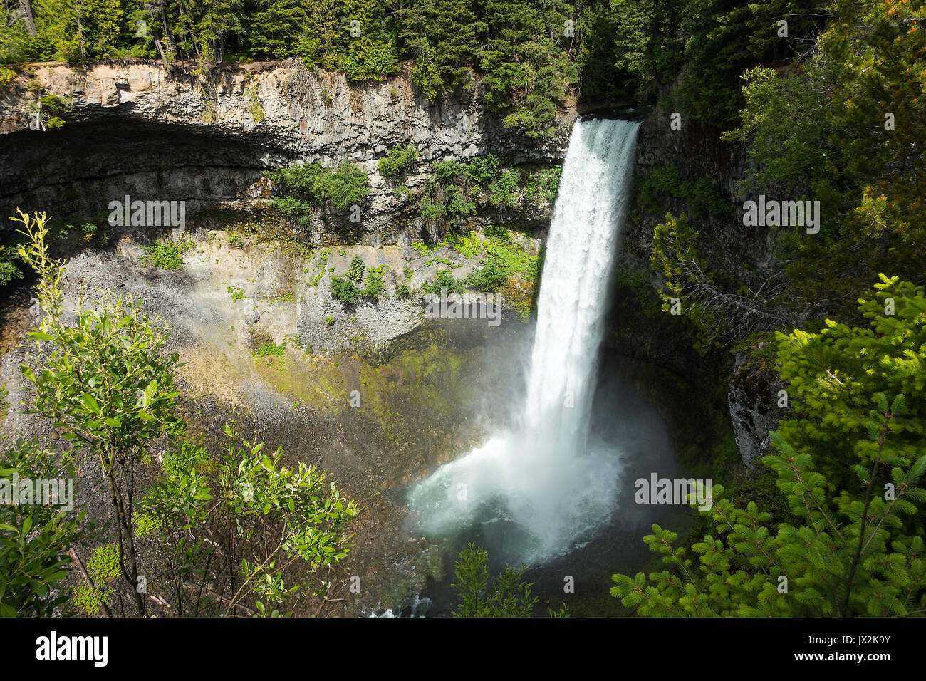 The Spectacular Brandywine Falls in Brandywine Provincial Park near Whistler British Columbia Canada - Stock Image