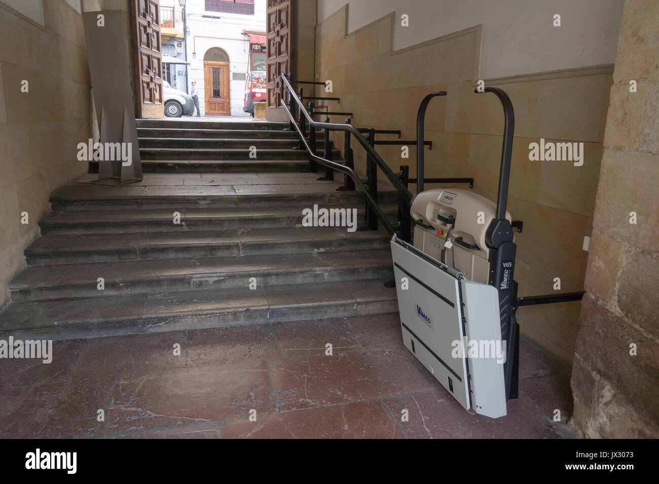 Wheelchair lift stock photos wheelchair lift stock for Motorized chair lift for stairs