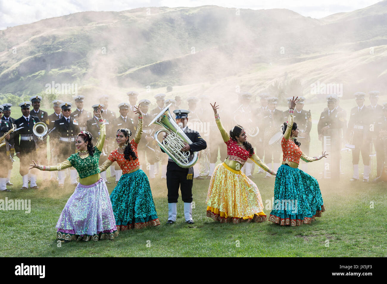 Edinburgh, UK. 15th Aug, 2017. As part of the UK-India Year of Culture 2017 and Indian Independence Day Celebrations - Stock Image