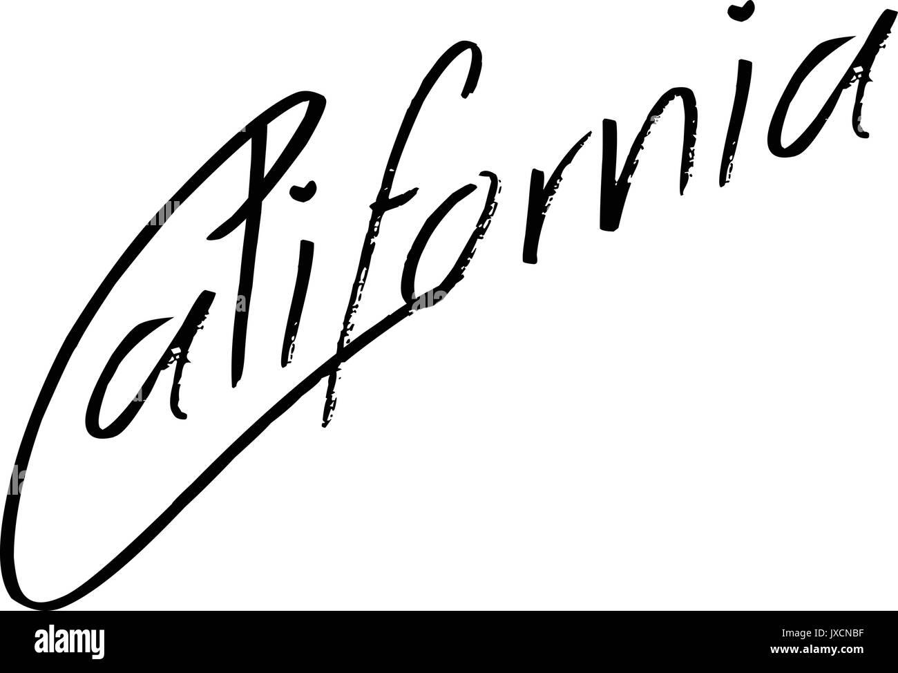 California text sign illustration - Stock Image