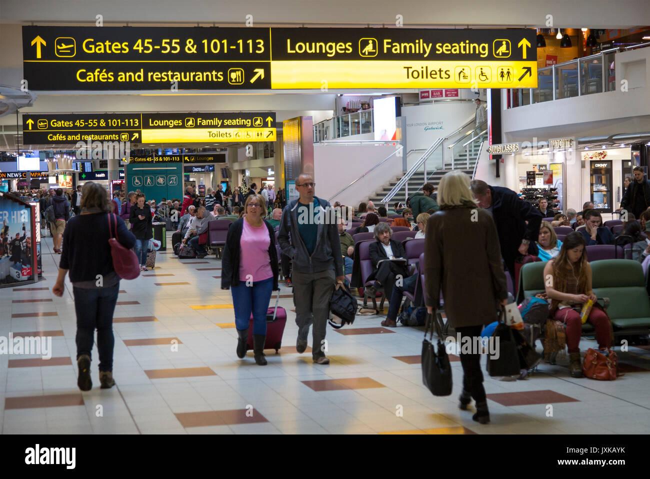 Gatwick airport departures lounge england stock photos gatwick airport departures lounge - Bureau de change crawley ...