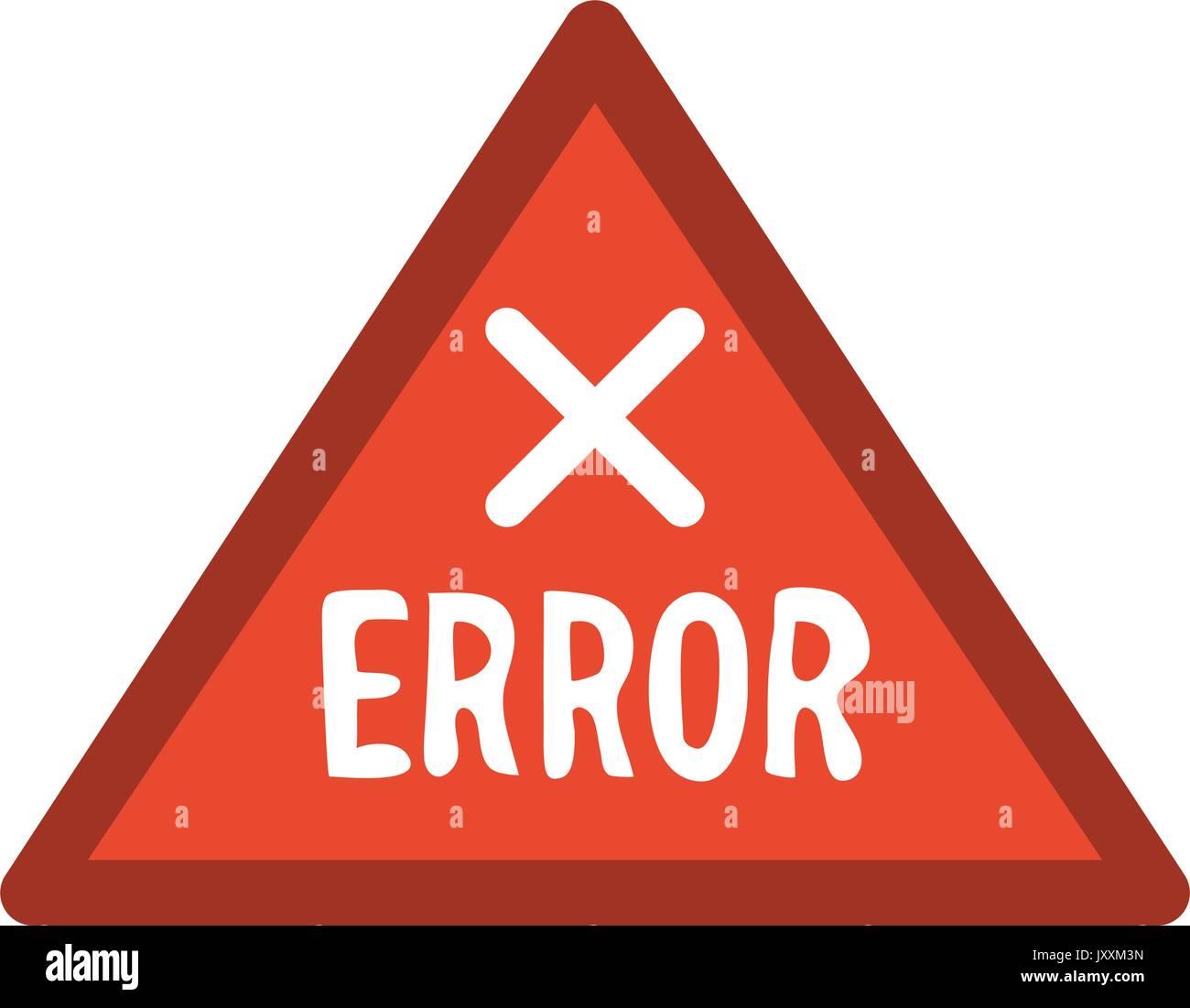 error sign icon image  - Stock Image