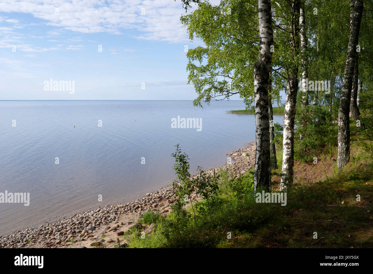 View to the Lake Võrtsjärv, Estonia 16.08.2017 Stock Photo
