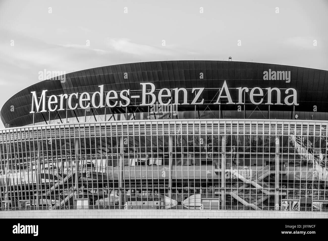 Mercedes benz arena stock photos mercedes benz arena for Mercedes benz arena