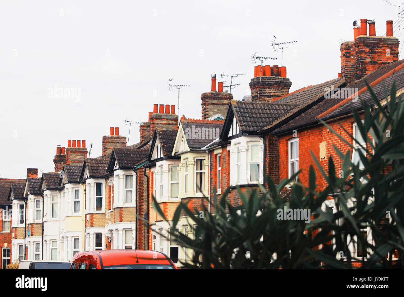 Flat roof house uk london stock photos flat roof house for English terrace