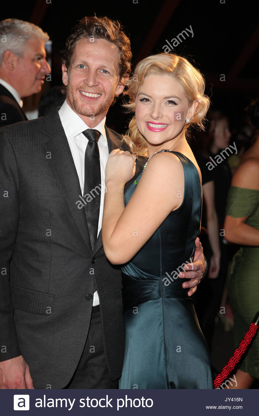 Lucy Durack, David Harris. Brian Brown and other Australian celebrities arrives on the red carpet at the 2012 Helpmann - Stock Image