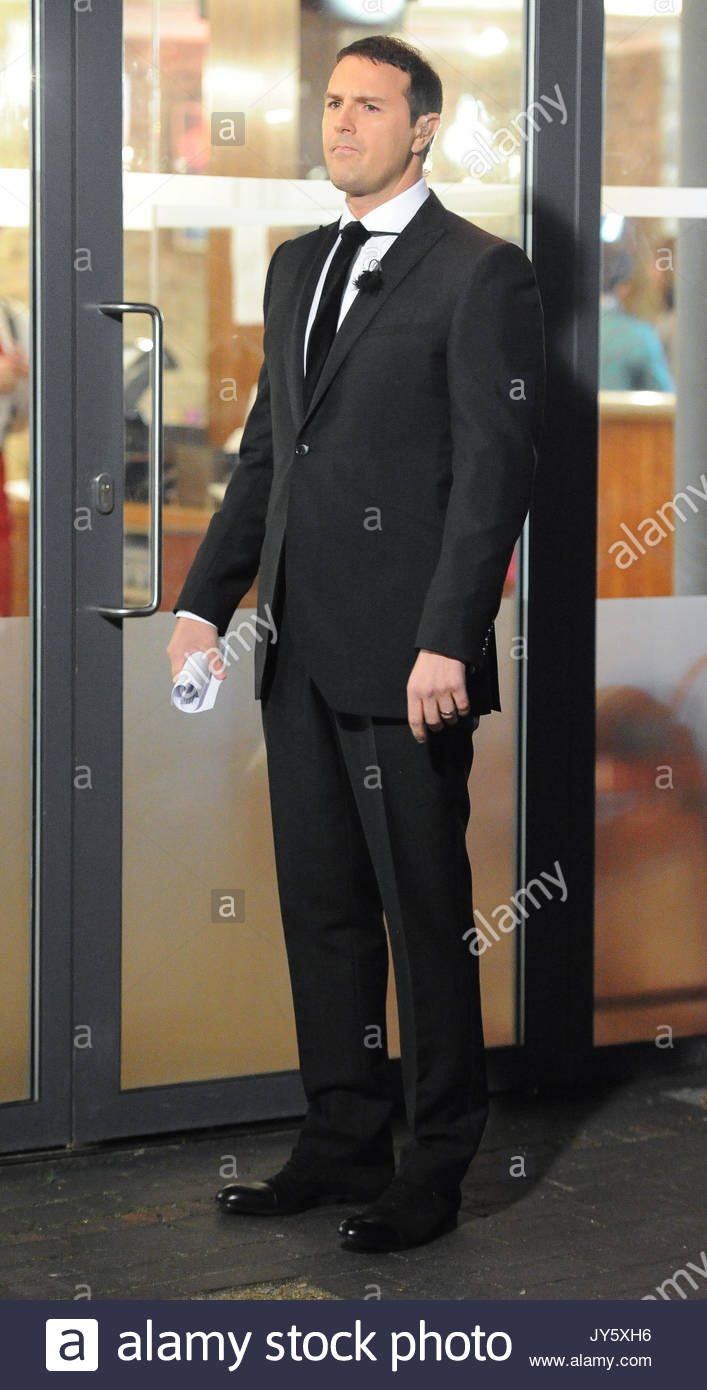Paddy McGuinness. Gordon Ramsay seen in the kitchen while recording the new channel 4 show 'Hotel GB'. - Stock Image