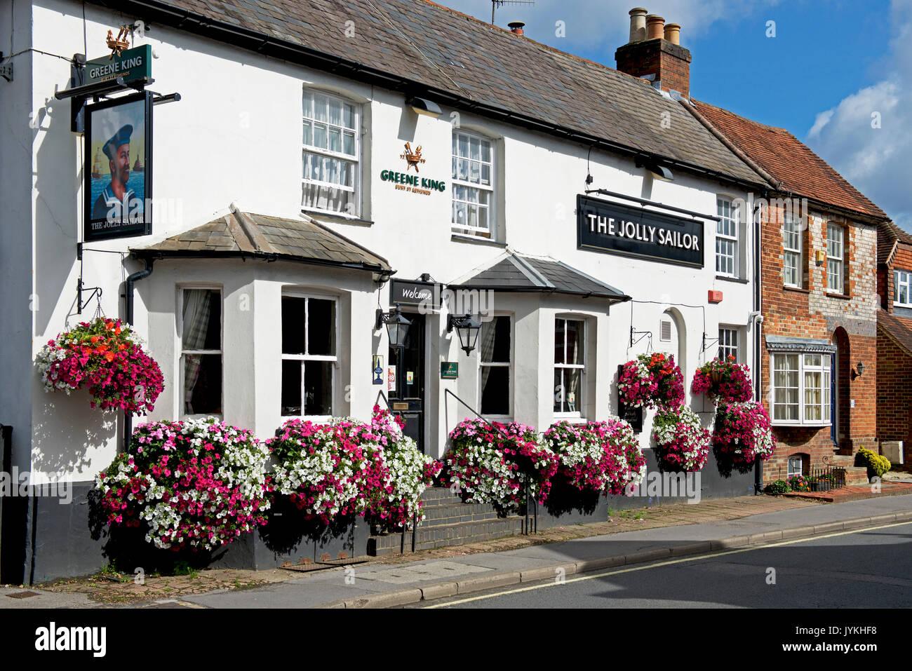 The Jolly Sailor pub, West Street, Farnham, Surrey, England UK - Stock Image
