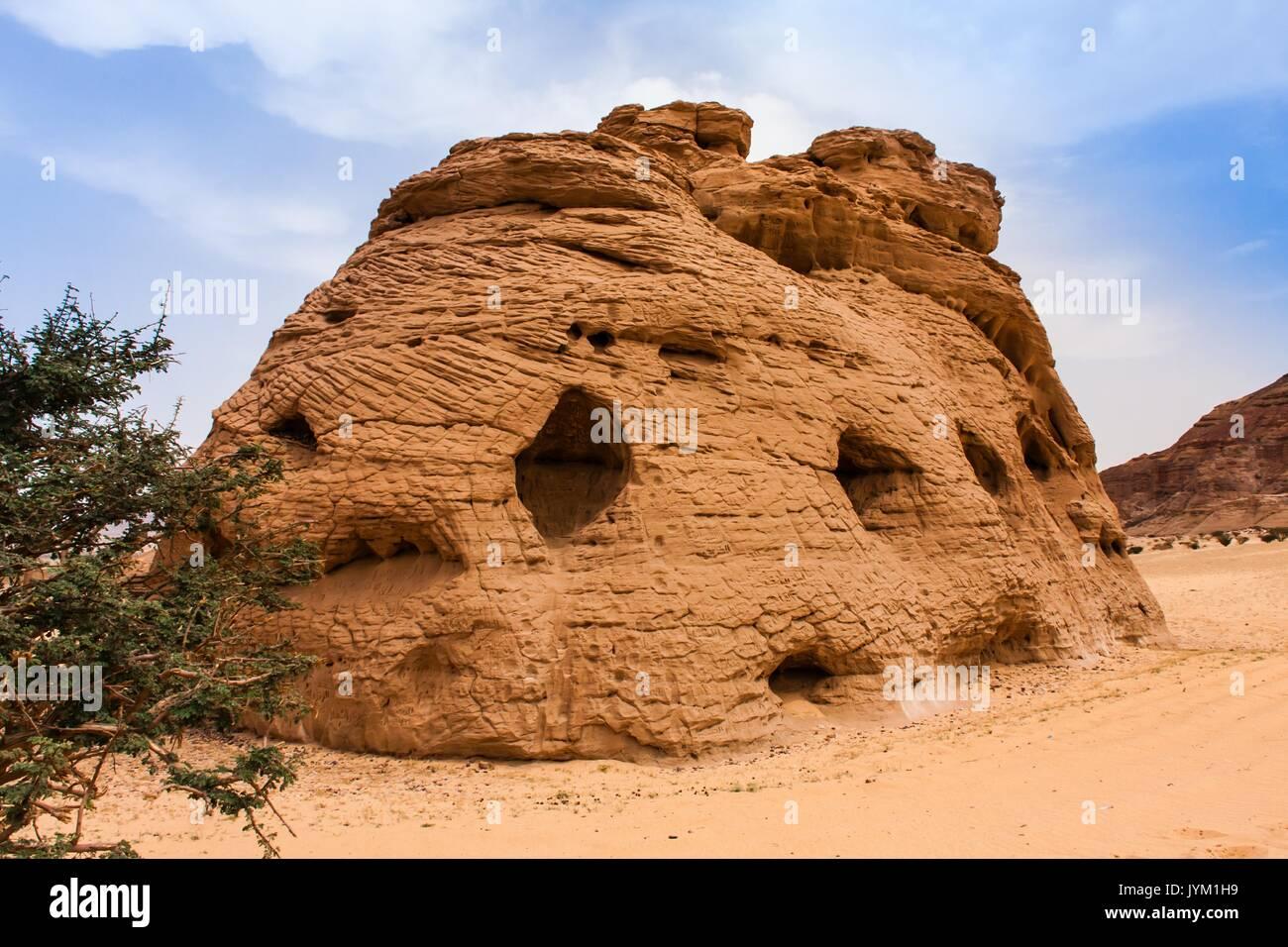 Cathedral Stone, Riyadh Province - Stock Image