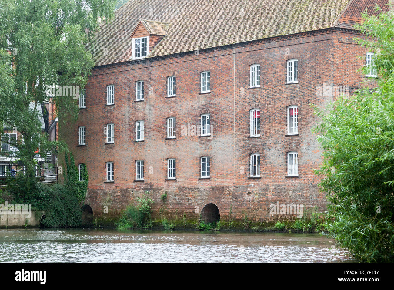 An old Mill House on the River Wey at Guildford, Surrey, England - Stock Image