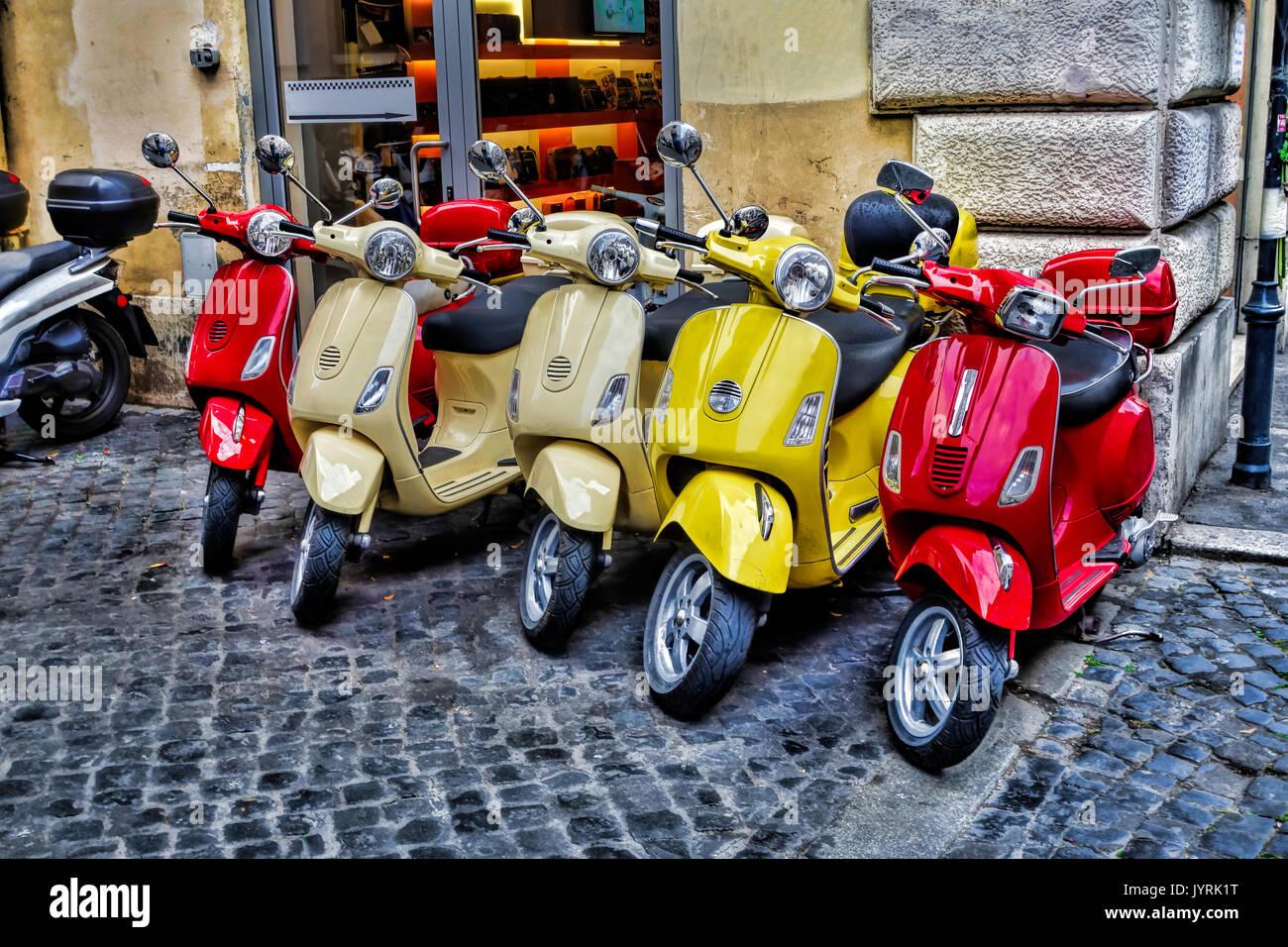 Scooter vespa piaggio parked in stock photos scooter for Vespa com italia