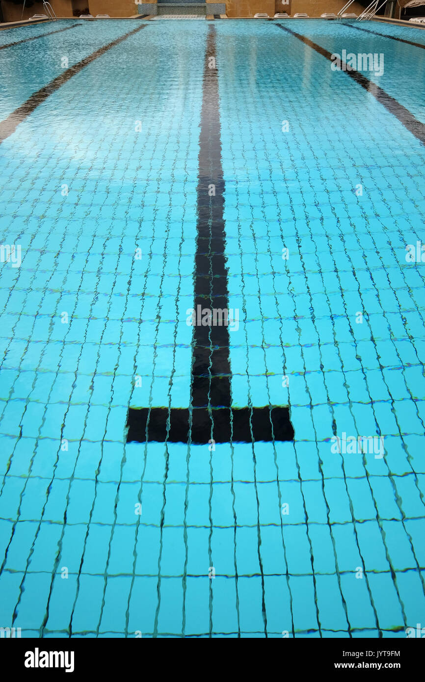 Swimming Pool Finish Line : Finish line above stock photos