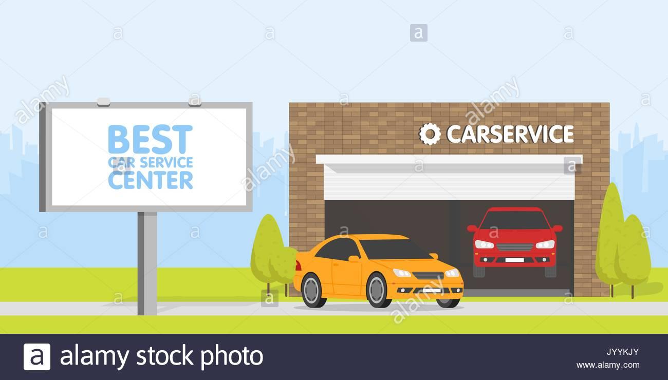 Cartoon car auto repair garage stock photos cartoon car for Garage auto lyon 7