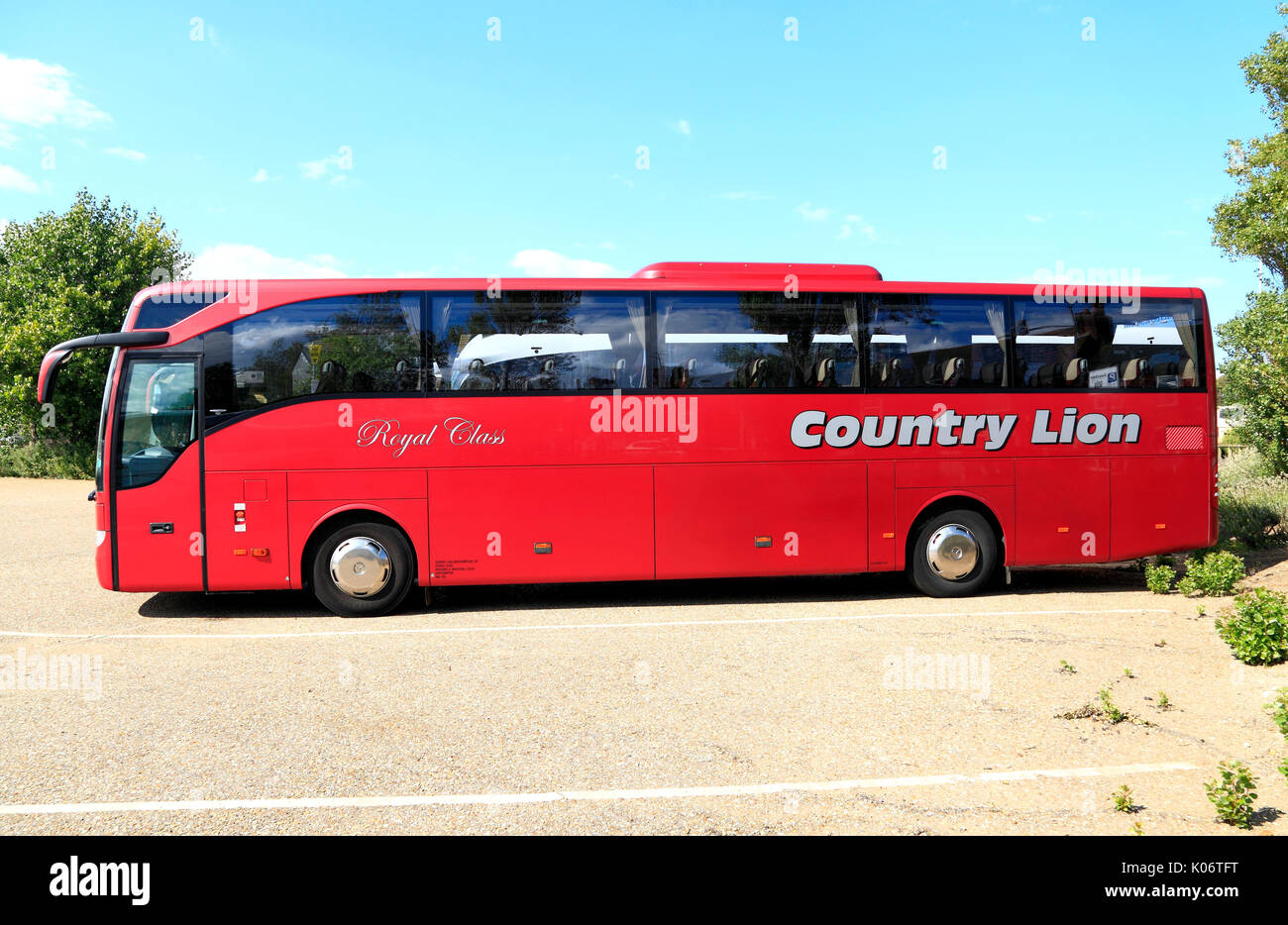 Country Lion, Royal Class, Coaches, coach, Travel, day trip, trips, excursion, excursions, travel company, companies, - Stock Image