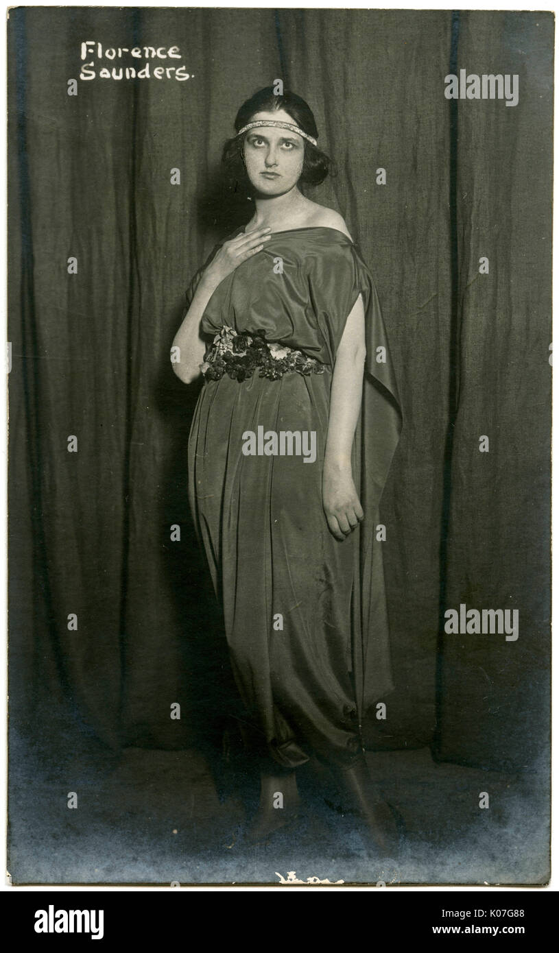 Florence Saunders, Soulful actress at the Old Vic theatre       Date: early 20th century - Stock Image