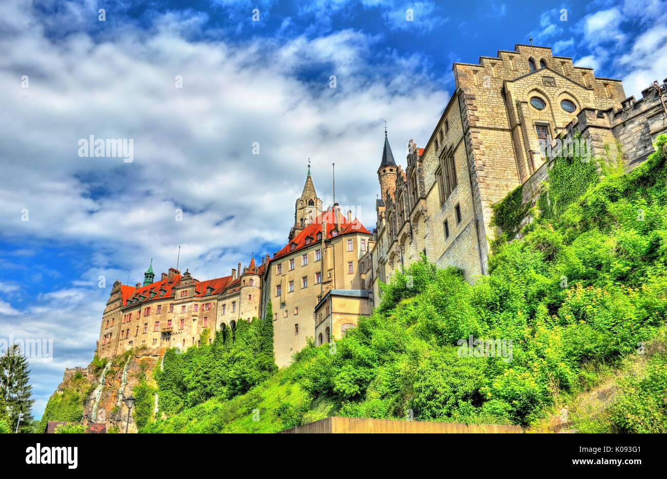 view hohenzollern castle germany baden wuerttemberg stock photos view hohenzollern castle. Black Bedroom Furniture Sets. Home Design Ideas