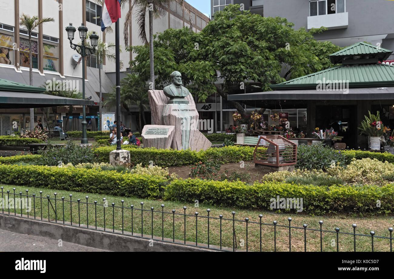 Monument Jose Maria Castro Madriz in San Jose, Costa - Stock Image