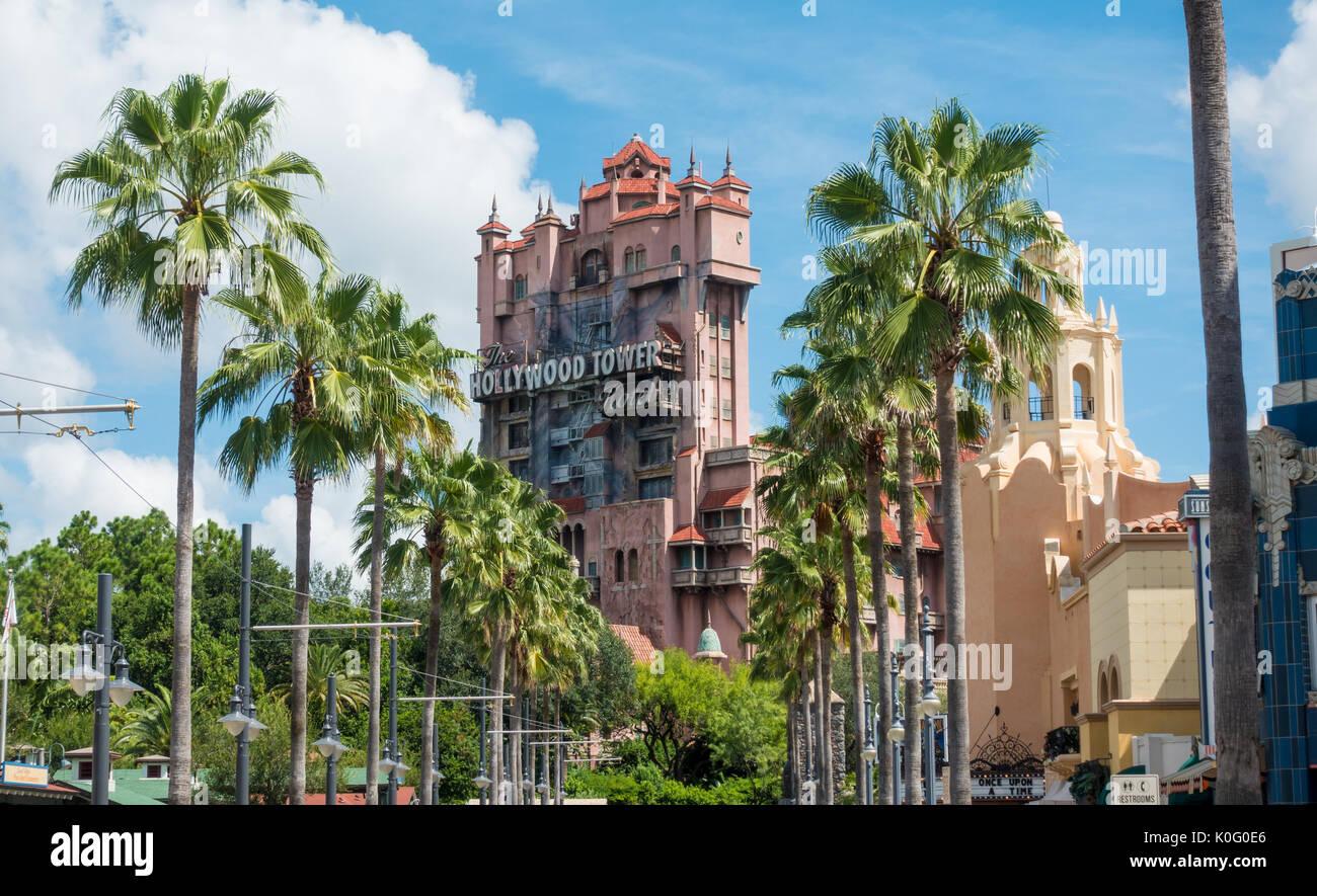 Tower of Terror Ride at Hollywood Studios, Walt Disney World, Orlando, Florida - Stock Image