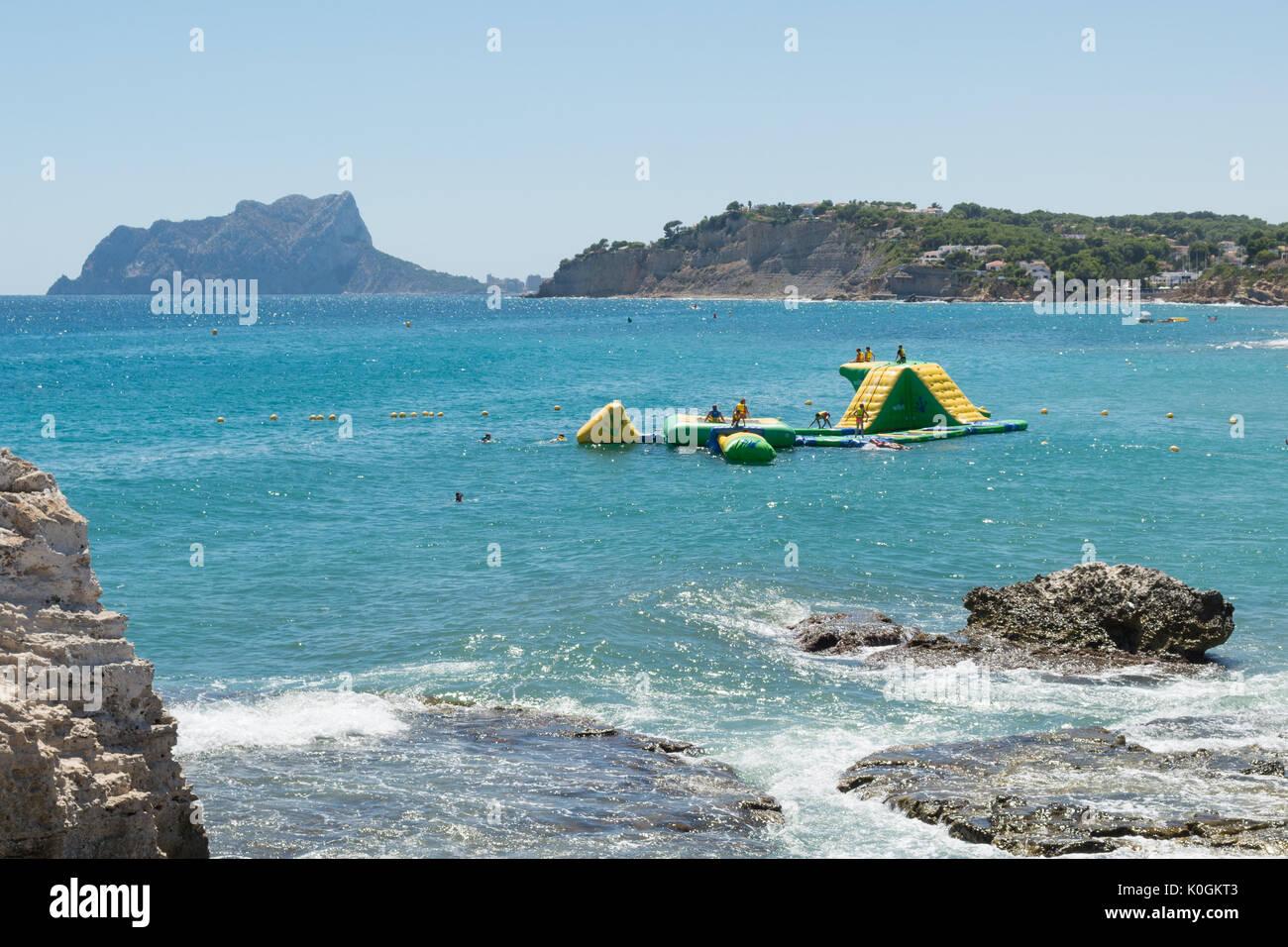 wibit modular sports park at Moraira, Alicanti, Spain - Stock Image