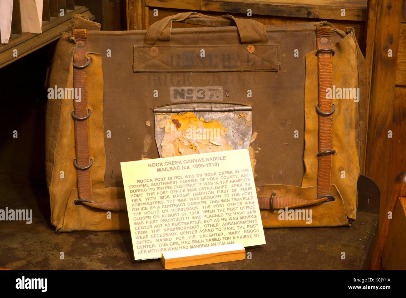Mailbag, Polk County Museum, Rickreall, Oregon - Stock Image