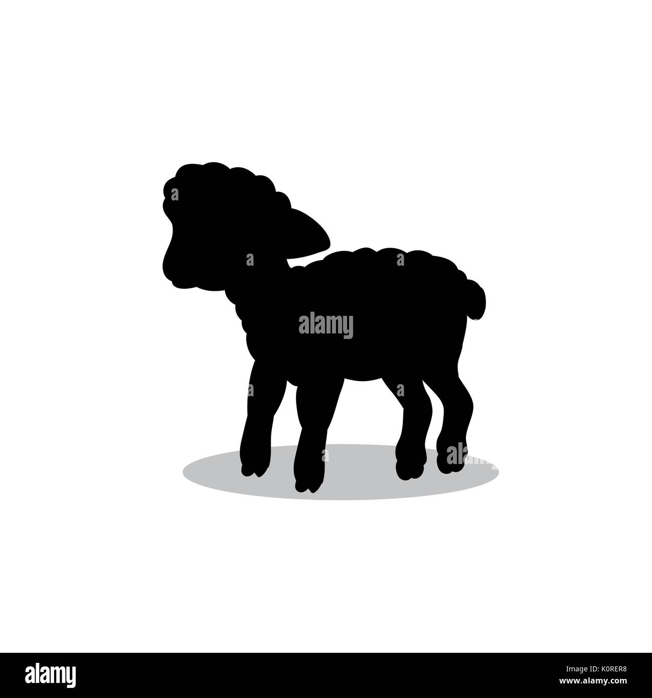 Lamb Silhouette Stock Photos & Lamb Silhouette Stock ...