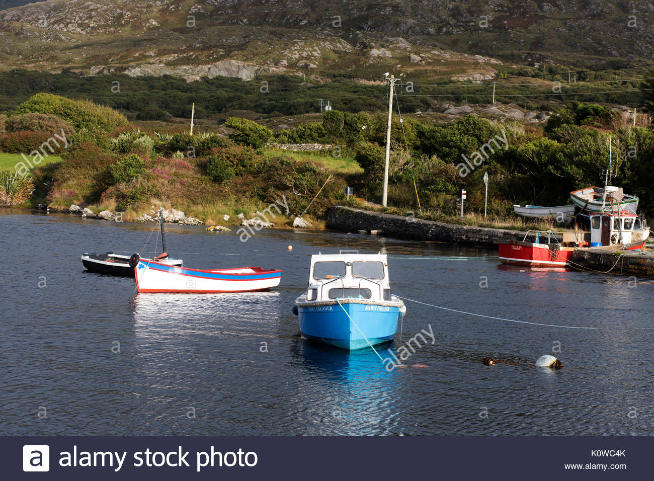 Harbour scene in small fishing stock photos harbour for Inshore fishing boats