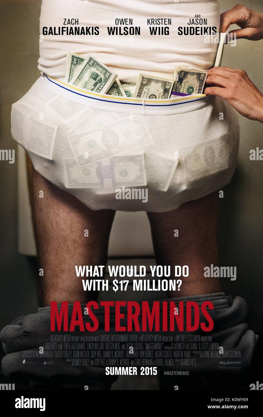 MOVIE POSTER POSTER MASTERMINDS (2015) - Stock Image