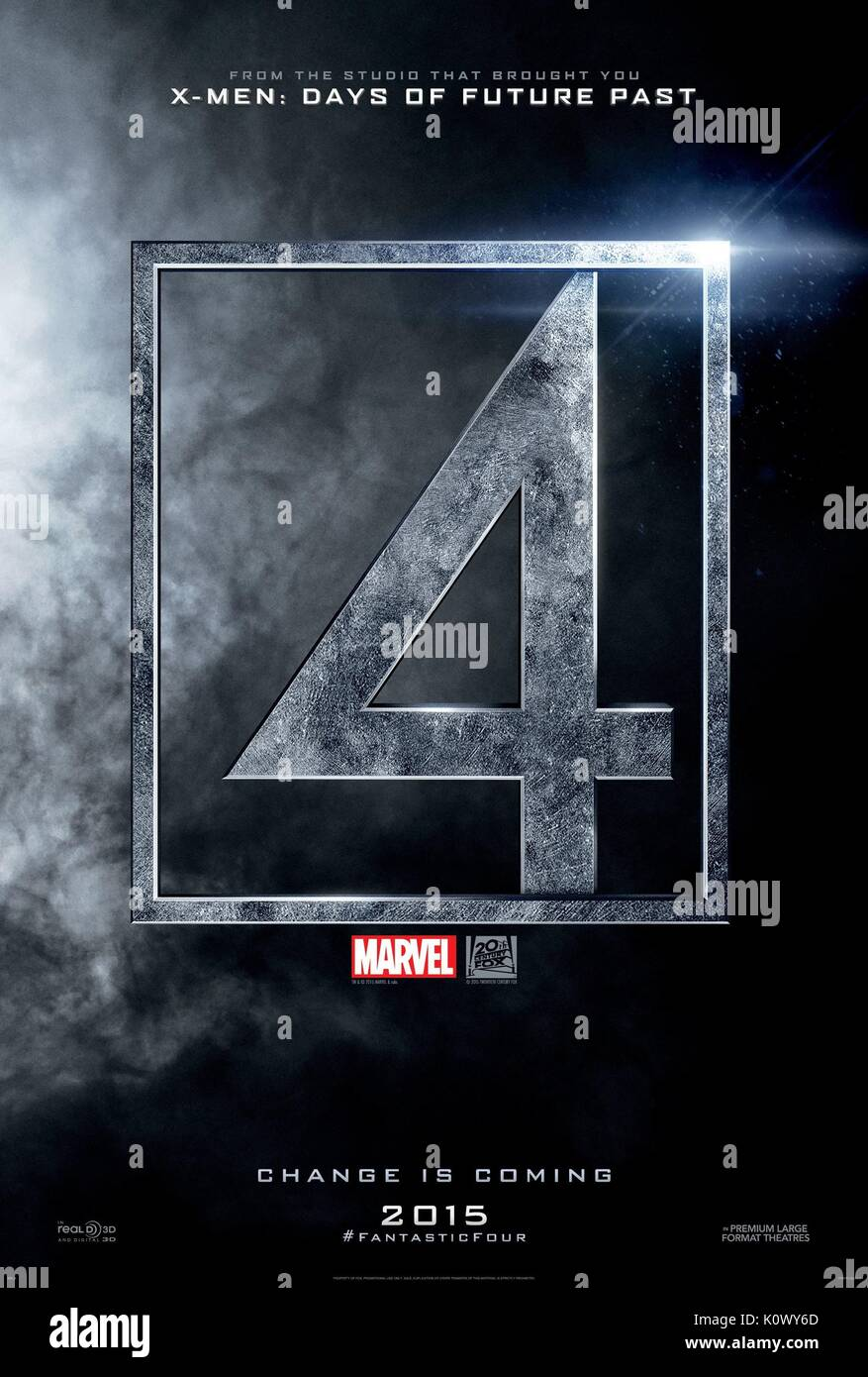 MOVIE POSTER FANTASTIC FOUR (2015) - Stock Image