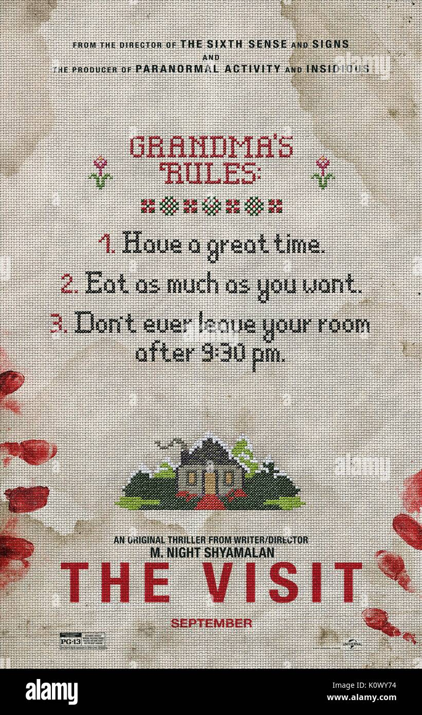 MOVIE POSTER THE VISIT (2015) - Stock Image