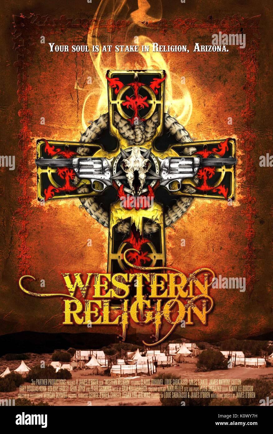 MOVIE POSTER WESTERN RELIGION (2015) - Stock Image