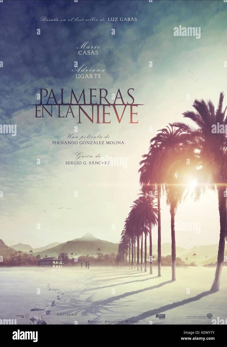 MOVIE POSTER PALM TREES IN THE SNOW; PALMERAS EN LA NIEVE (2015) - Stock Image