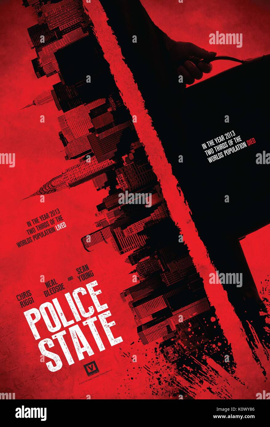 MOVIE POSTER POLICE STATE (2015) - Stock Image