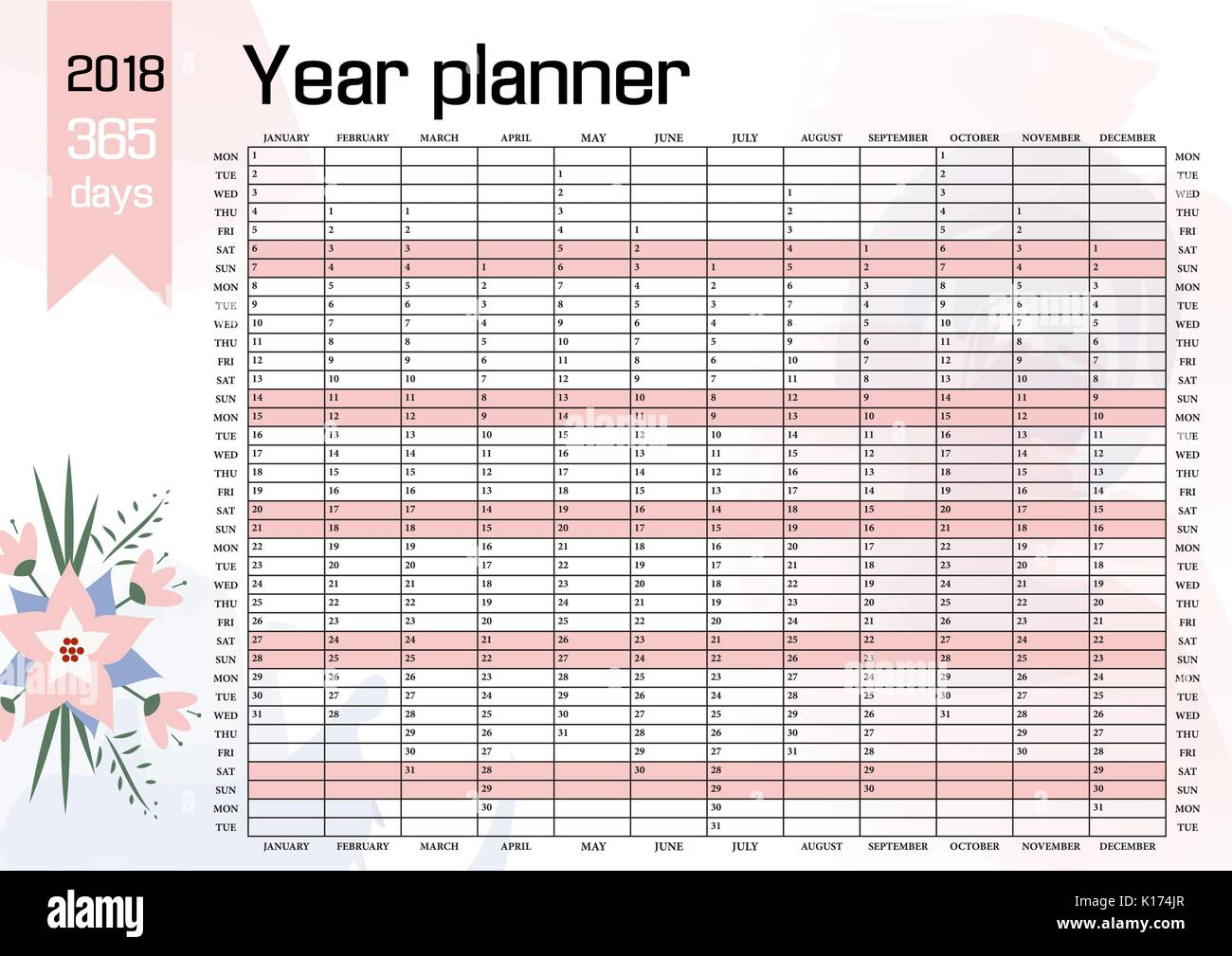 This calendar planner makes a useful staff holiday planner and like many planners it has calendar uk dates and is a fine free year planner template and yearly planner for