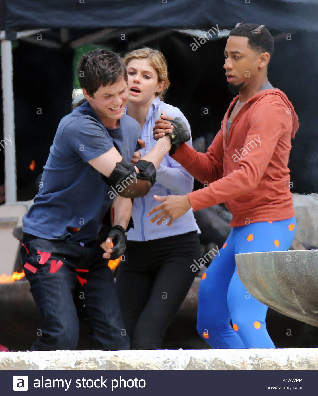logan lerman alexandra daddario and brandon t jackson