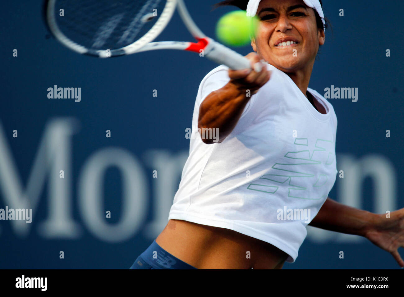 New York, United States. 26th Aug, 2017. US Open Tennis: New York, 26 August, 2017 - Heather Watson of Great Britain - Stock Image