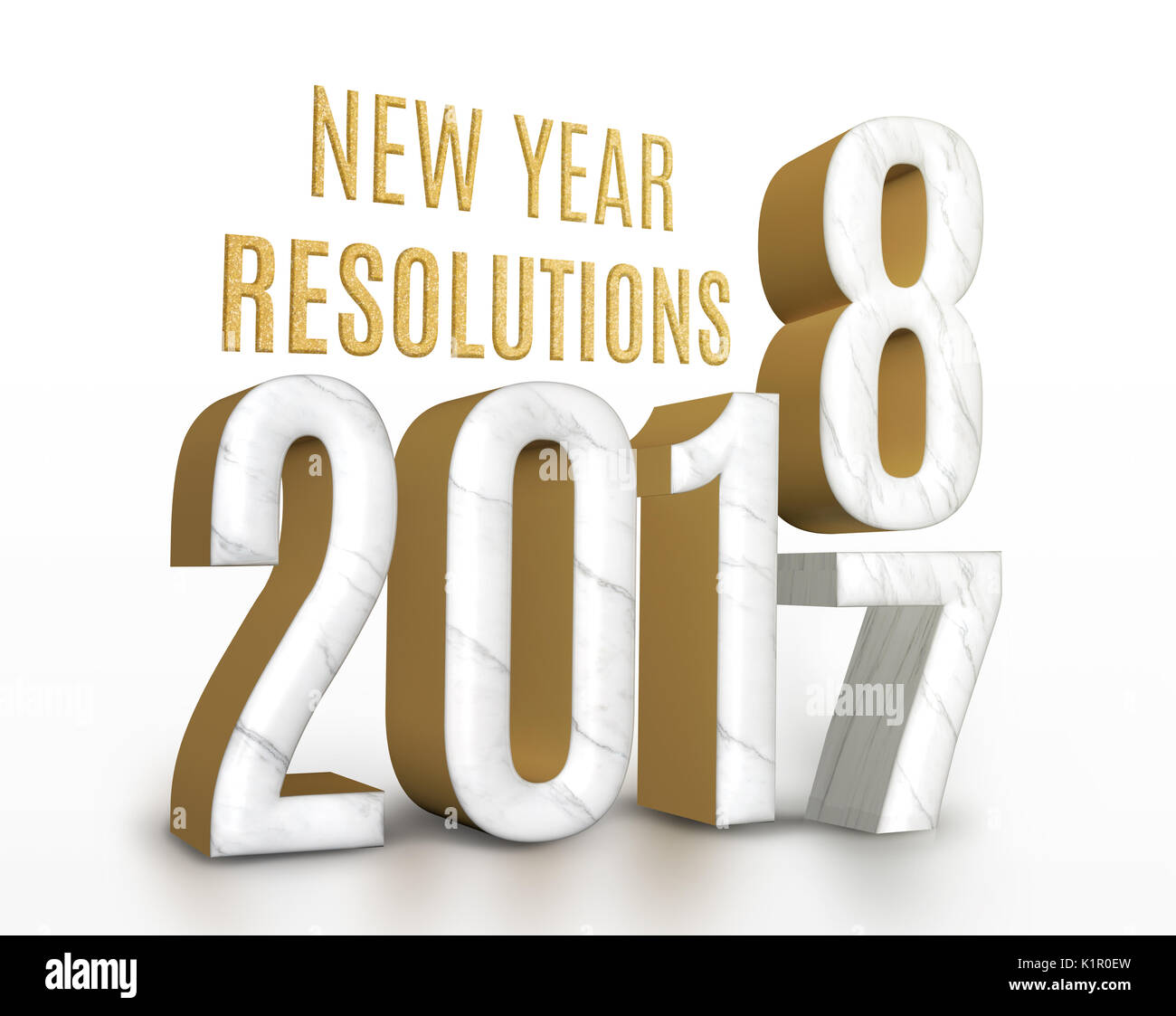 Happy New Year 2018 Greeting Stock Photos amp
