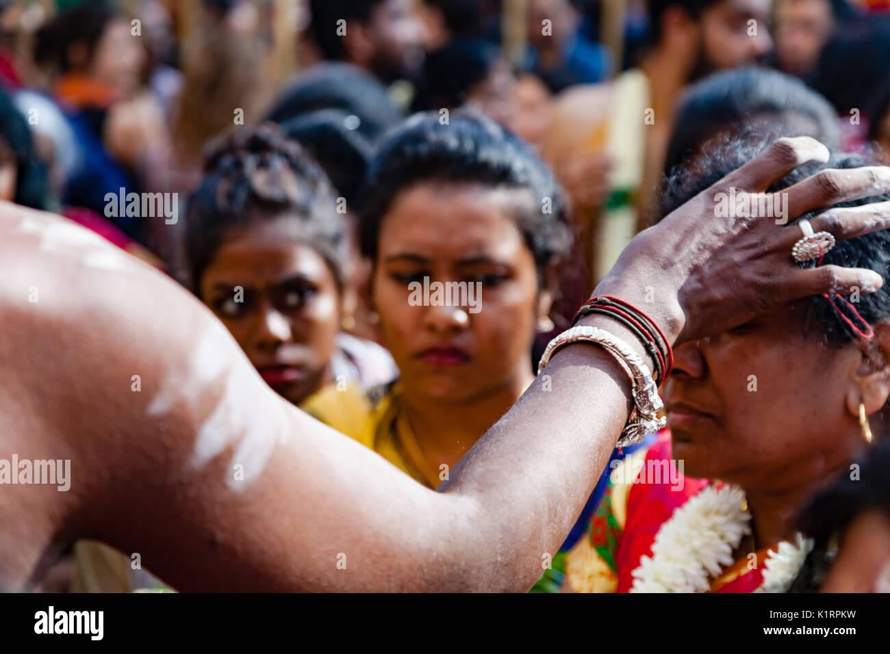 Paris, France. 27th August, 2017. Hindu of Paris France celebrate Ganesh Chturthi hindu festival. Credit: Guillaume - Stock Image